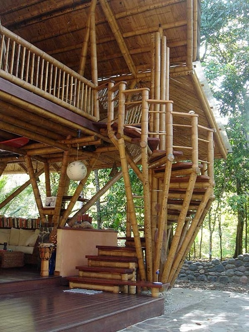30 beautiful examples of bamboo houses for Simple house design made of wood