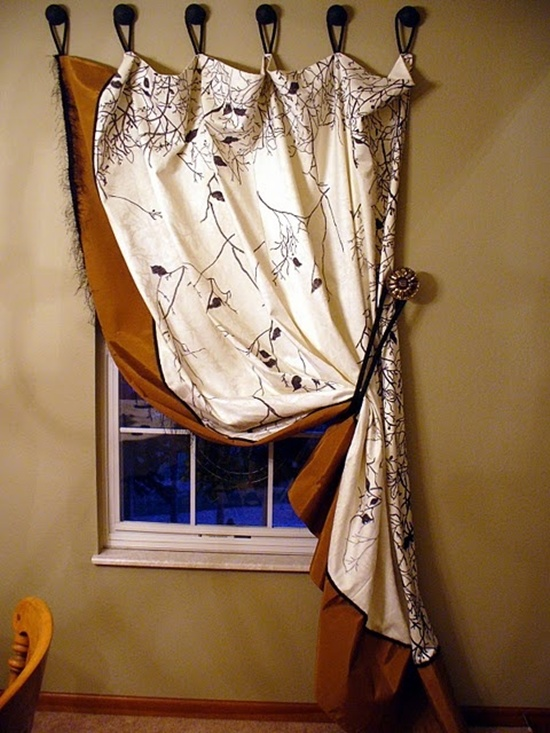 30 beautiful new curtain ideas for rooms for Unusual ways to hang curtains