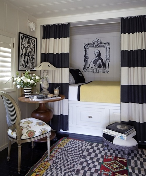 Decorating With Stripes For A Stylish Room: 99 Examples Of Beautifully Designed Small Bedrooms