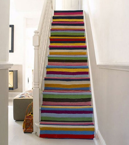 Use Of Larger And Bolder Stair Runner Carpet Designs Can Have A Huge Impact  In Your Room. The Larger Patterns Used In The Design Below Makes It Looks  More ...