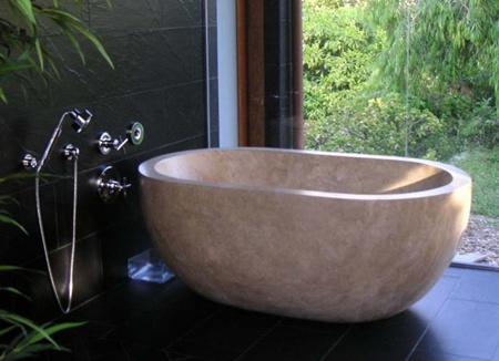 25 Beautiful Example Of Stone Bathtub