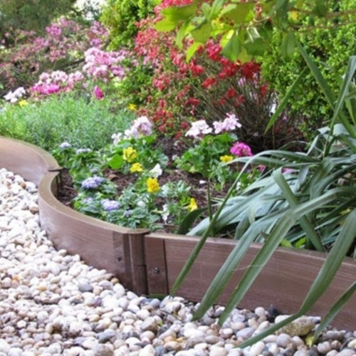 Garden Border Ideas parkland garden edging cobbled stone effect plastic plant hammer in lawn tree border 10 grey 30004p Vegetable And Flower Edging Ideas 14