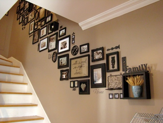 25 unique ideas for designing a photo wall Wall pictures