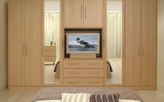 30 modern wall wardrobe almirah designs for Bedroom built in wardrobe designs