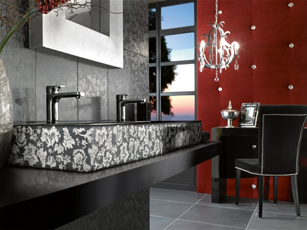 Black White Modern Bathroom Design 4