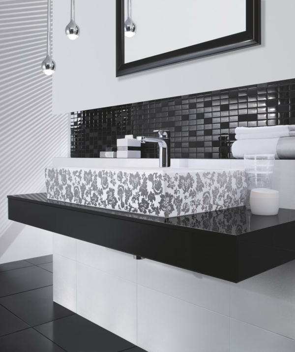 Black White Modern Bathroom Design Ideas
