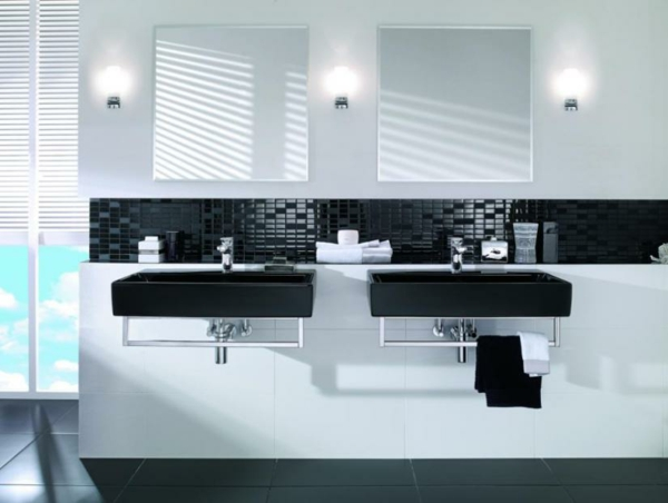 ... Black White Modern Bathroom Design ... Nice Look