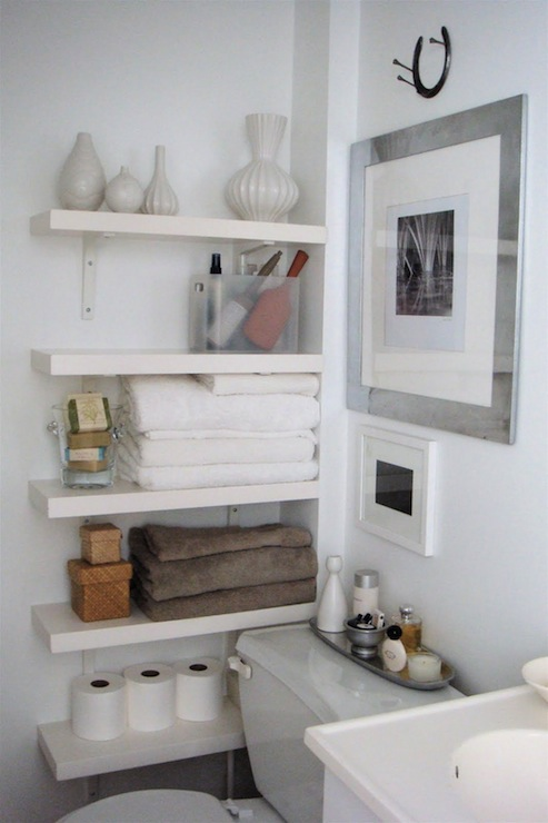 Hanging Shelves bathroom storage
