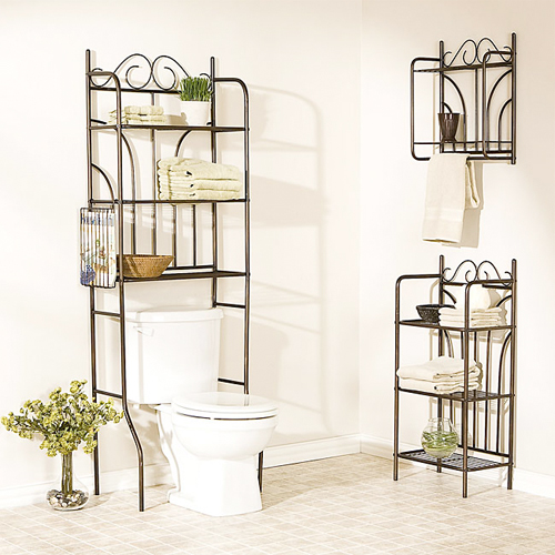You can create stacked shelving either by getting a tall  narrow shelving unit or by cutting it out of the bathroom wall as a DIY project. 33 Clever  amp  Stylish Bathroom Storage Ideas