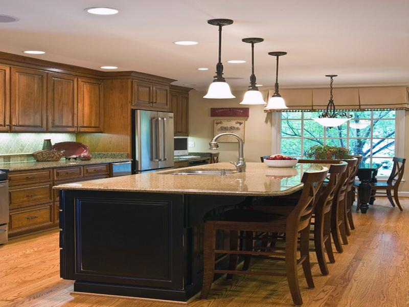Five kitchen island with seating design ideas on a budget for Kitchen island designs