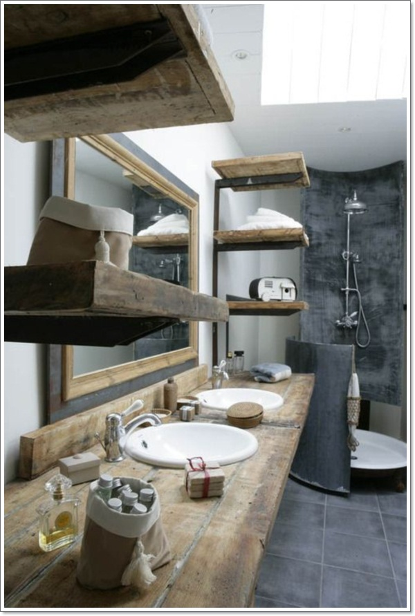42 Ideas For The Perfect Rustic Bathroom Design