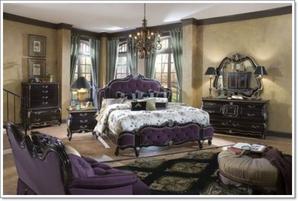 35 inspirational purple bedroom design ideas for Victorian style master bedroom