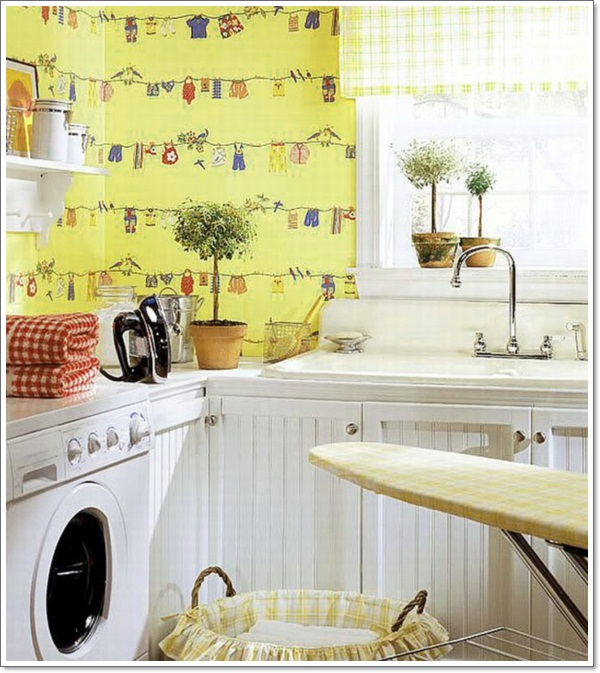 Cool Things To Put In A Basement: 32 Laundry Room Décor Ideas