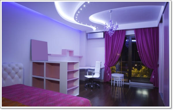 Delightful ... Purple Bedroom Design Wallpaper Decorating Ideas