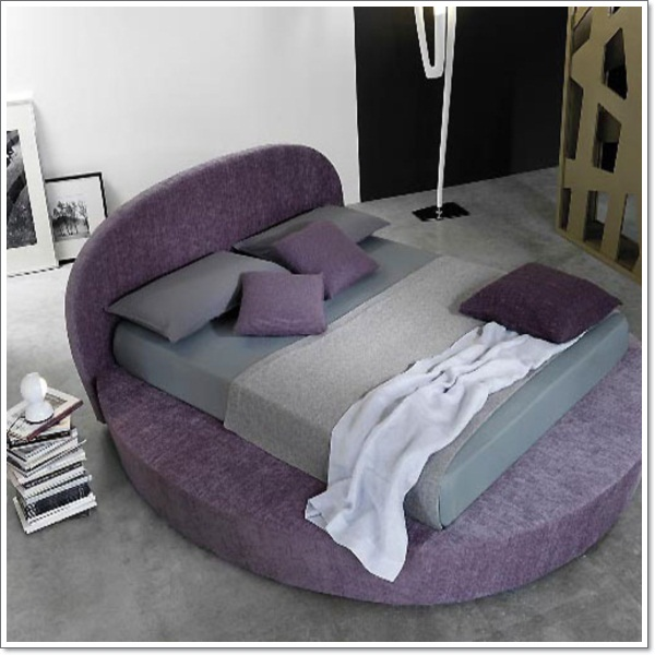 35 inspirational purple bedroom design ideas for Round bed design