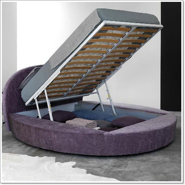 Round Purple Bed Furniture fo Modern Bedroom Design05