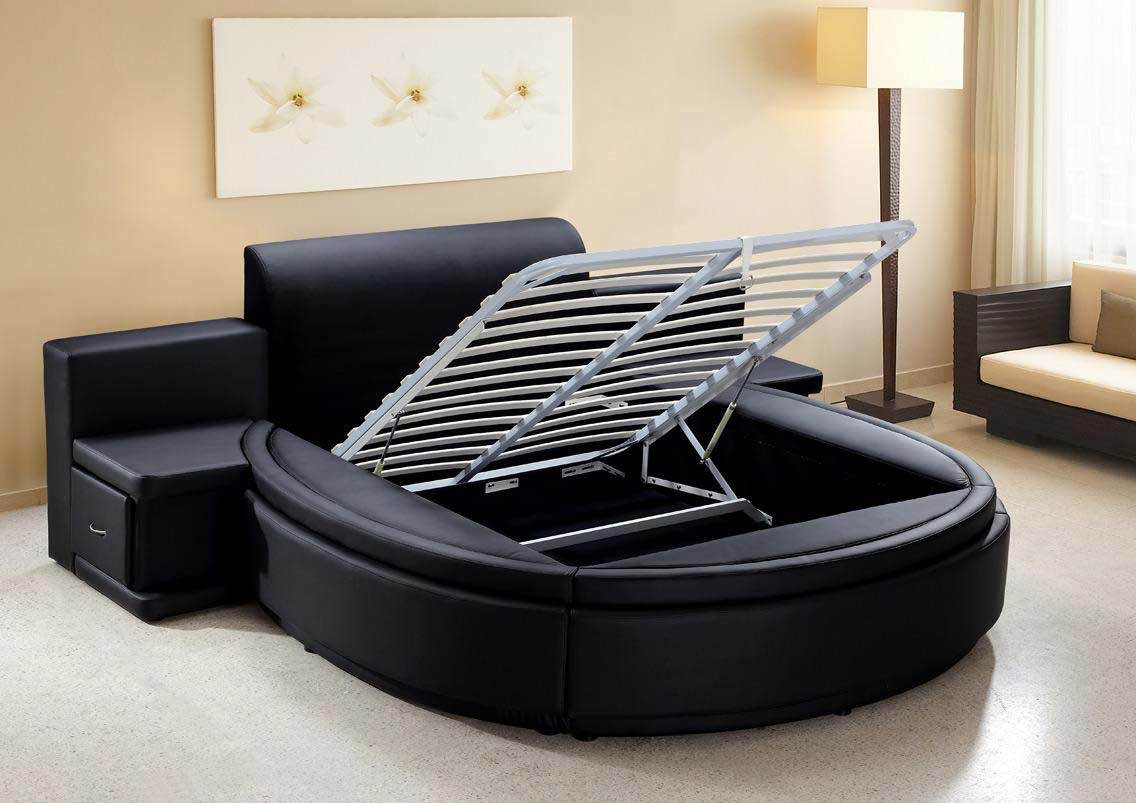 Bed designs with storage - Aiden Round Bed B3