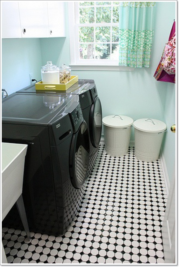 black-and-white-laundry-room-ideas