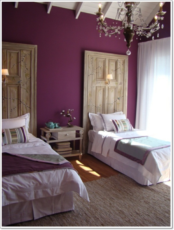impressive purple bedroom wall decoratio. 35 Inspirational Purple Bedroom Design Ideas