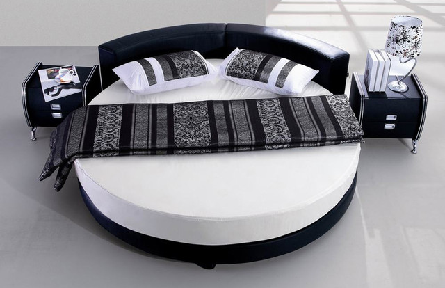 costing over 3000 this black modern round bed is a treasure find in fact there is a night stand built into each side of the bed that can easily be - Modern Beds Photos