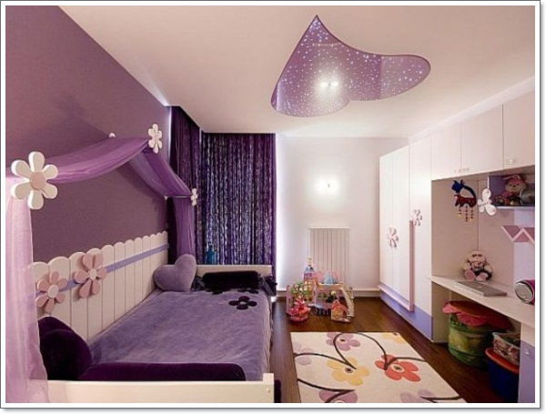 Romantic Purple Bedroom Interior Design 2013 By Er