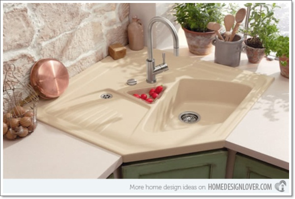25 Creative Corner Kitchen Sink Design Ideas