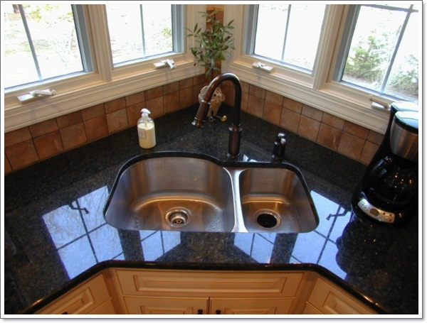 Amazing Corner Kitchen Sink Design Ideas