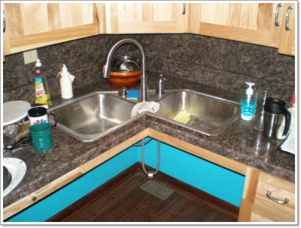 Corner Sinks For Kitchens Corner Kitchen Sink Ideas