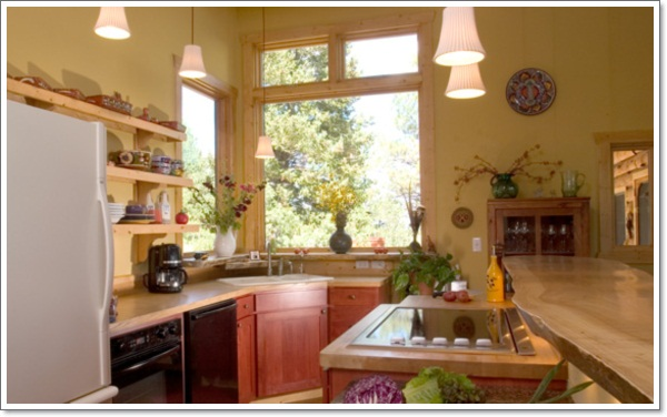 ... Rustic Kitchen Design Ideas Corner Sink ... Part 54