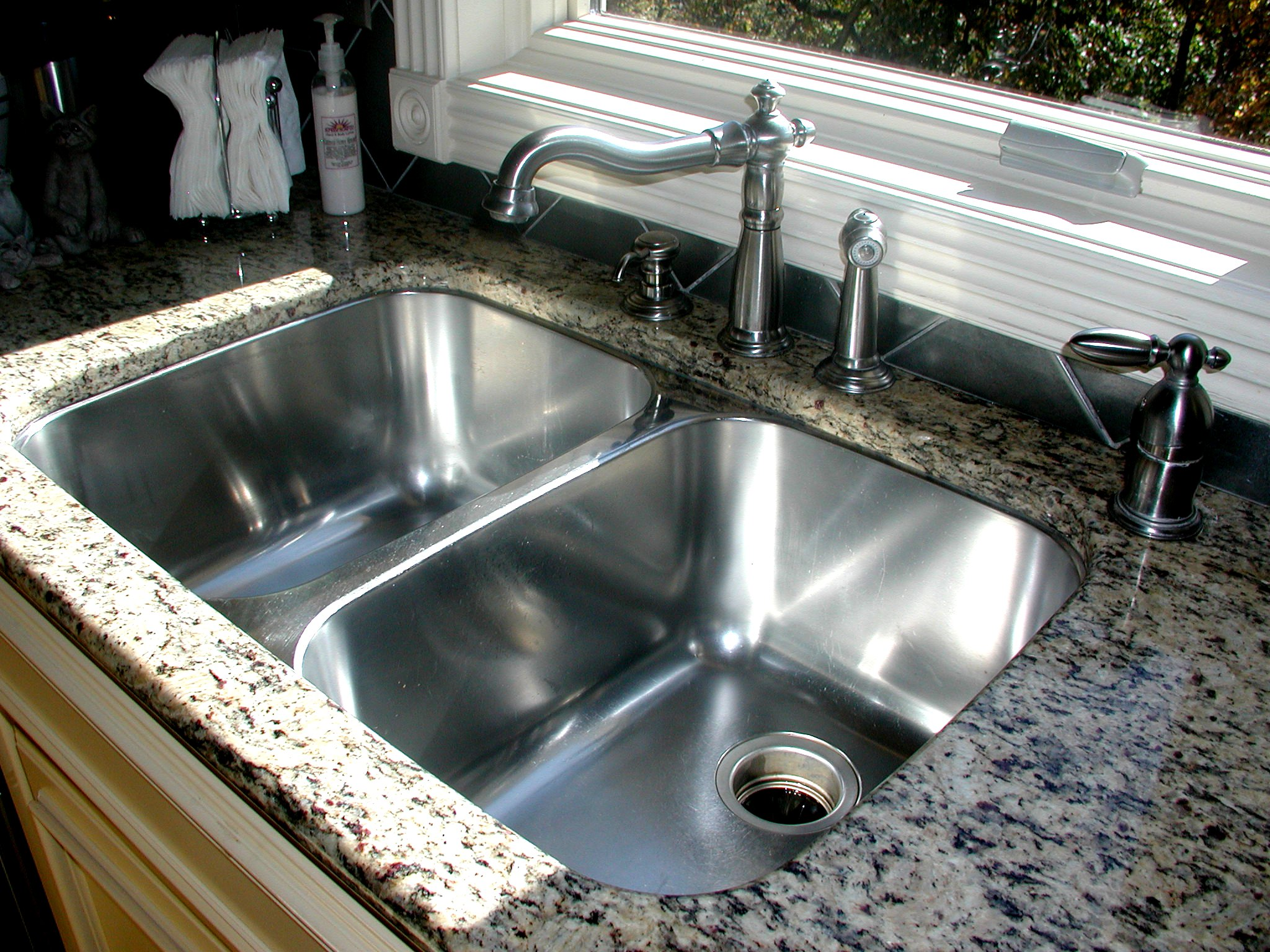 Granite Or Stainless Steel Sink : one of a kind high functioning stainless steel corner sink. This sink ...