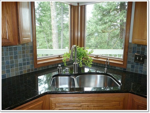 corner kitchen sink designs one sided kitchen designs house design and decorating ideas