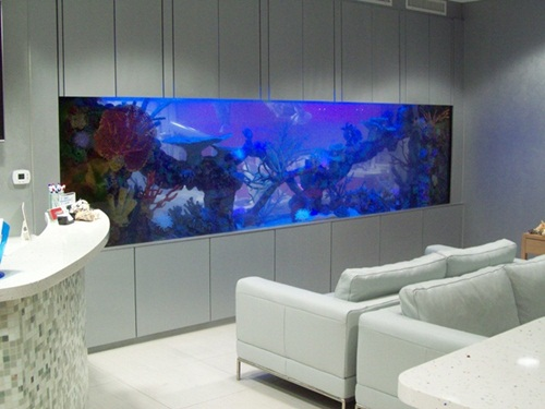 30 fish tank ideas for a relaxing home - Decorative fish tanks for living rooms ...