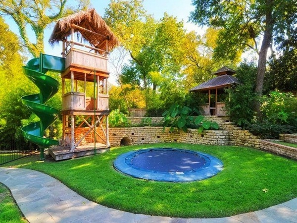 Cool Backyard Ideas a cozy chair is the most simple solution to admire your pond surrounded by trees and Backyard 5
