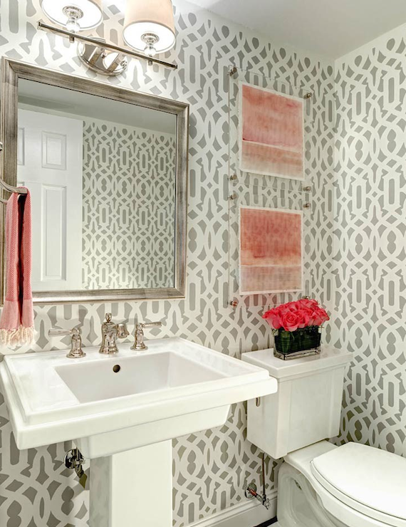 20 practical pretty powder room decorating ideas Pretty powder room ideas
