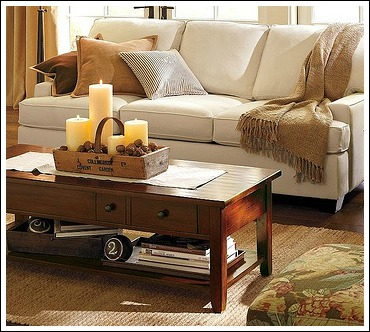 Accessorizing Ideas Pottery Barn Coffee Table