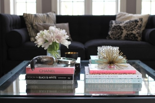 books_stacked_on_coffee_table resized 600jpeg - How To Decorate A Coffee Table