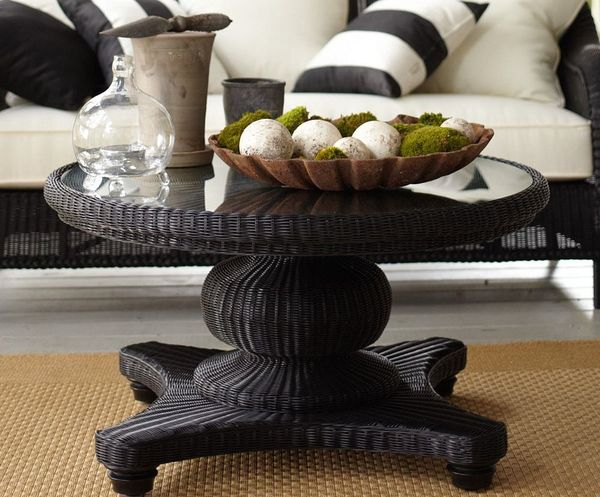 round coffee table decor