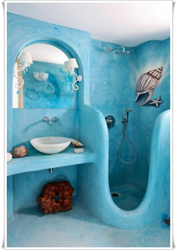 Kids Beach Bathroom Decorations