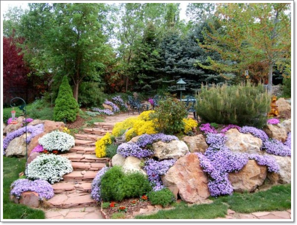 30 beautiful rock garden design ideas for Rockery designs for small gardens
