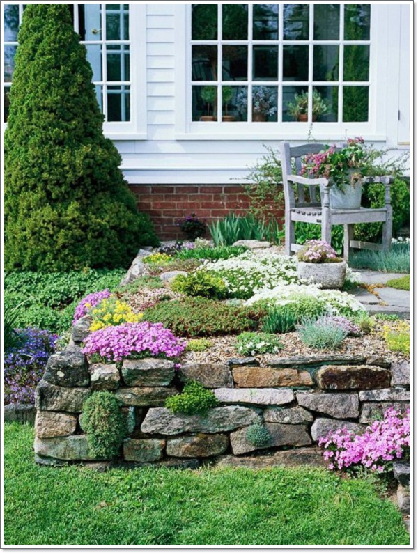30 beautiful rock garden design ideas for Simple rock garden designs