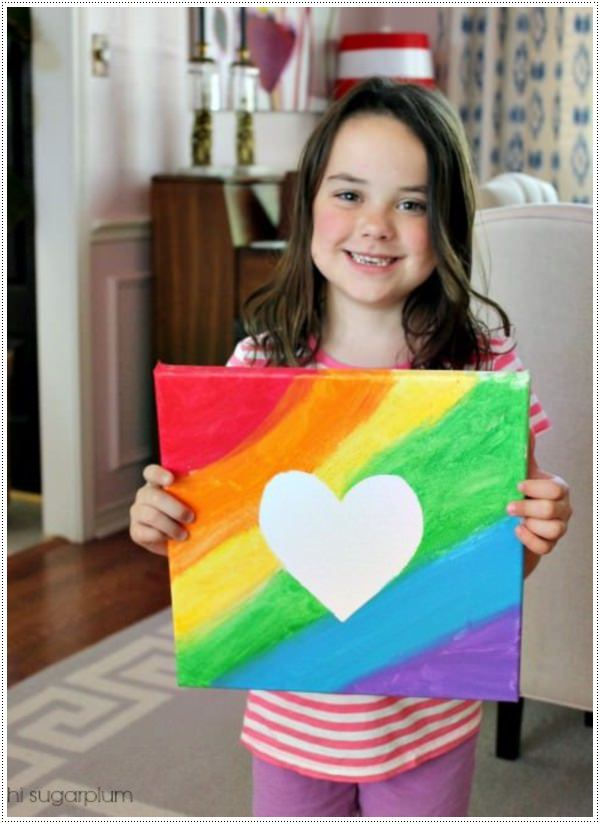 40 awesome canvas painting ideas for kids for Simple watercolor paintings for kids