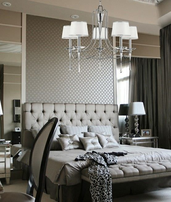 40 grey bedroom ideas basic not boring for Bedroom ideas silver