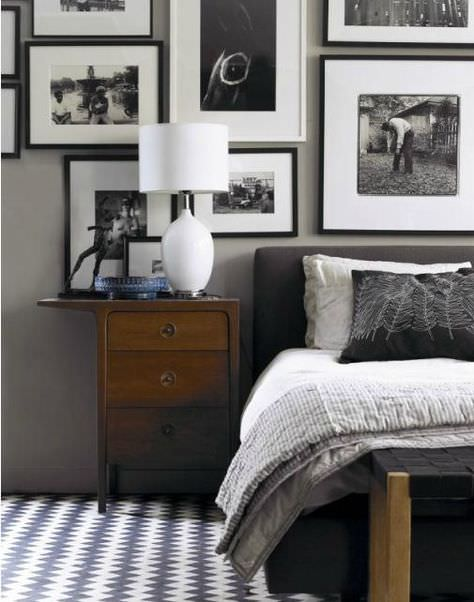 40 grey bedroom ideas basic not boring Light grey and navy bedroom