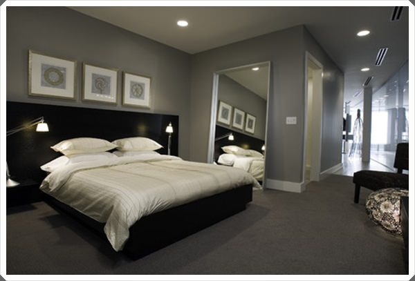 40 grey bedroom ideas basic not boring for Grey and white bedroom designs