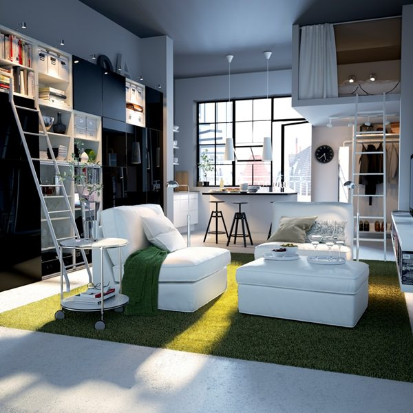 Studio Apartment Separate Sleeping Area 50 studio apartment design ideas: small & sensational !