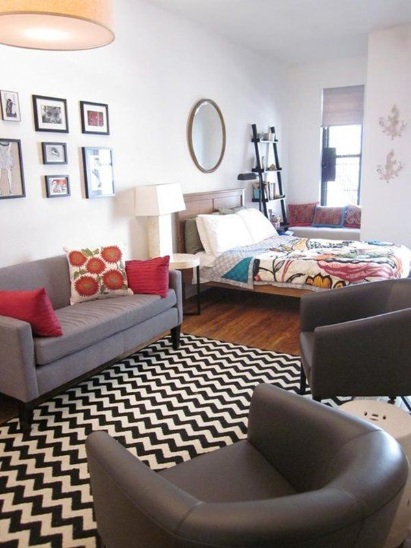 50 studio apartment design ideas small sensational for How to decorate a studio apartment